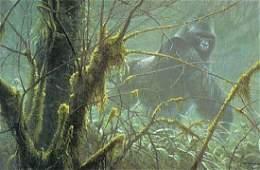 "Robert Bateman's ""Intrusion - Mountain Gorilla"" Limited"