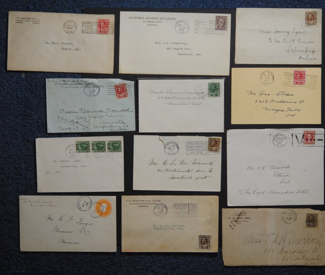 Canada Stamps and Letters Collection