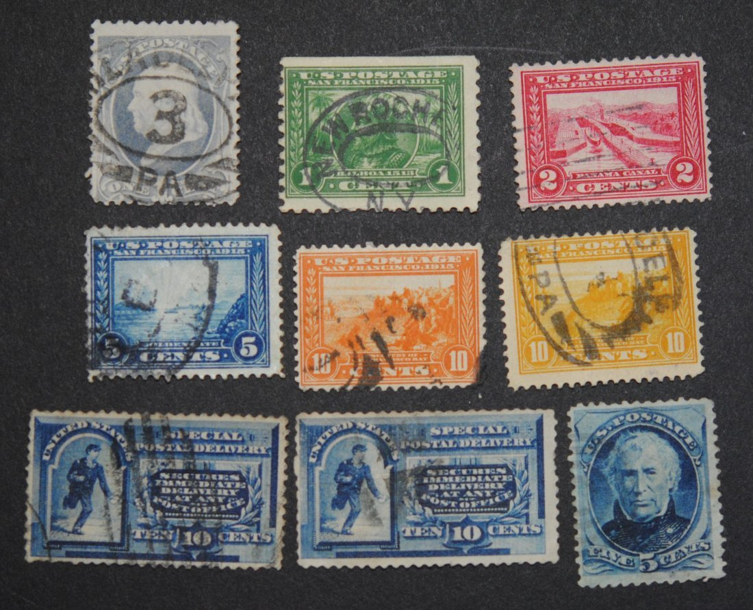 USA Stamp Collection of 9 Early US Stamps