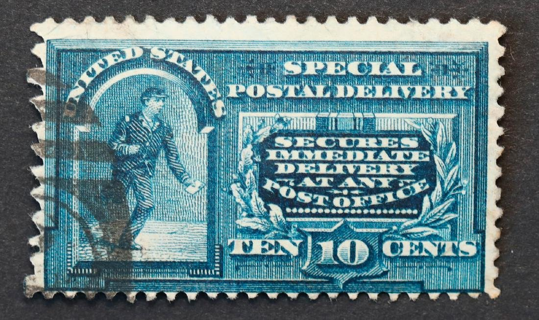 USA Special Delivery Stamp S/C E4 SD3 Line Under 10