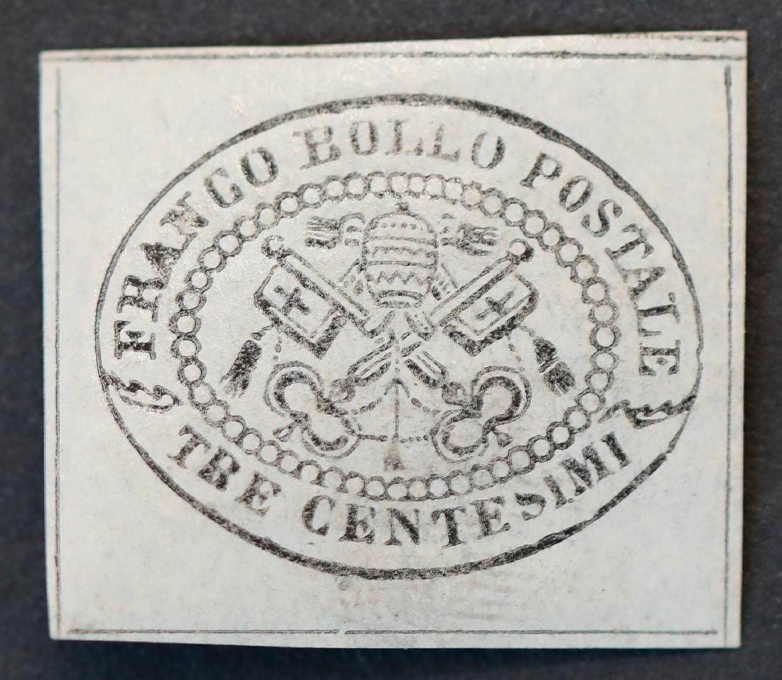 Roman States 1867 S/C #A13 M OG VLH