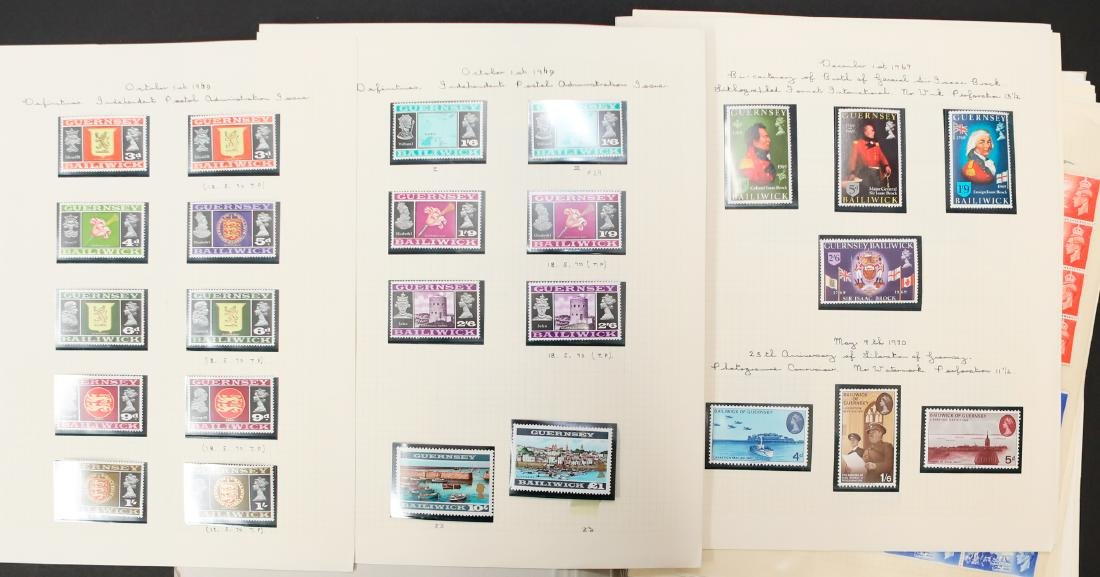 Guernsey Bailiwick MNH Stamp Collection