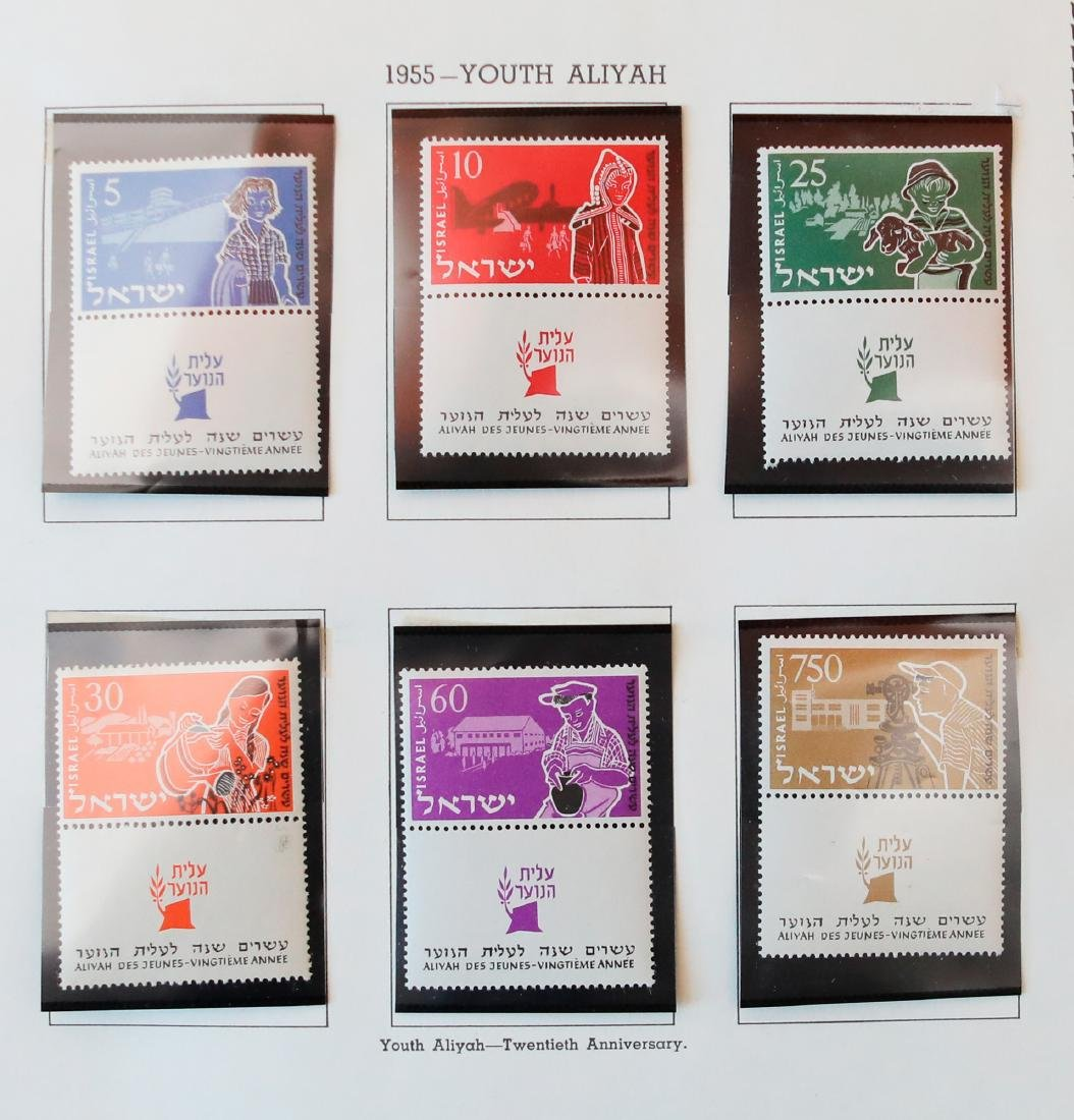 Israel 1954-56 MNH Tab Stamp Collection - 2