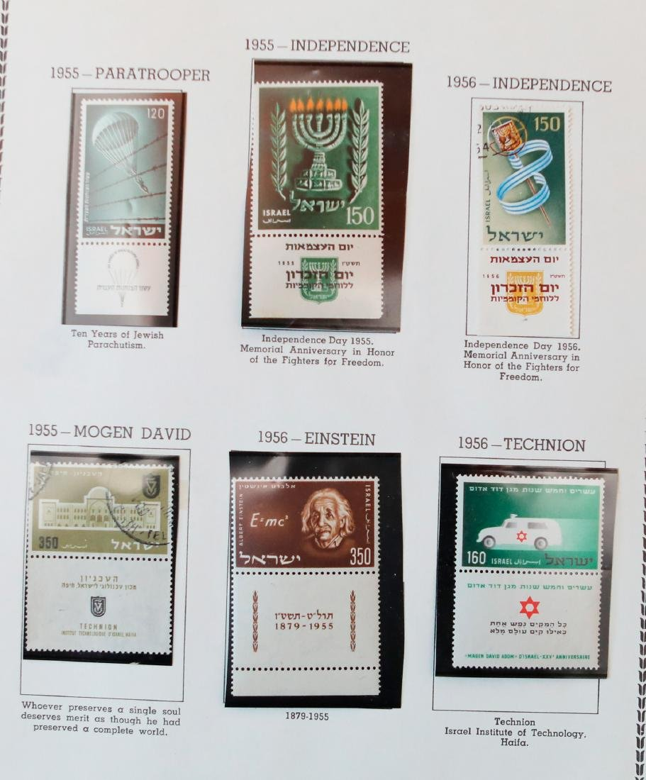 Israel 1954-56 MNH Tab Stamp Collection - 3