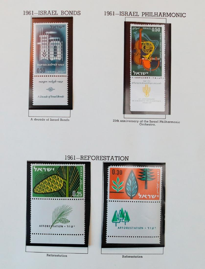 Israel 1961-62 MNH Tab Stamp Collection