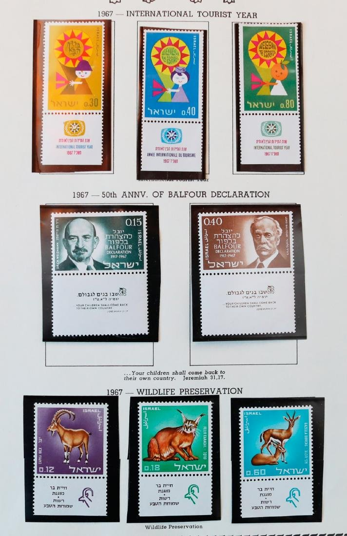 Israel 1967-68 MNH Tab Stamp Collection