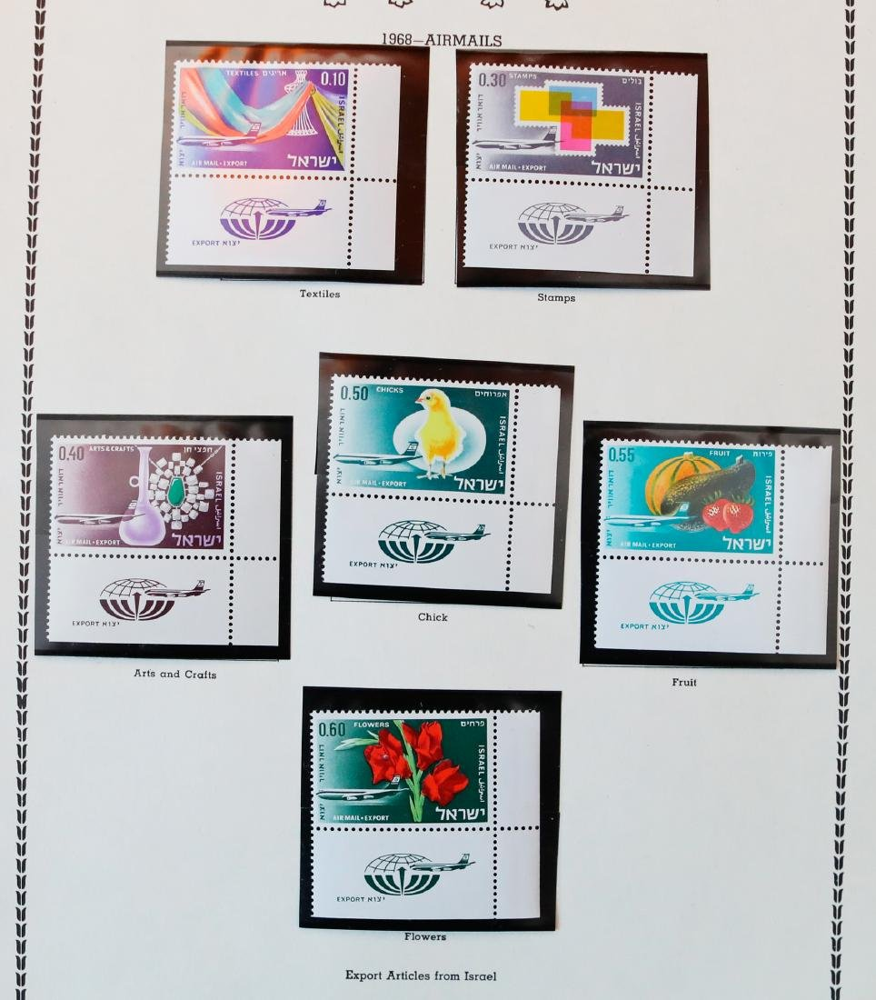 Israel 1967-68 MNH Tab Stamp Collection - 2