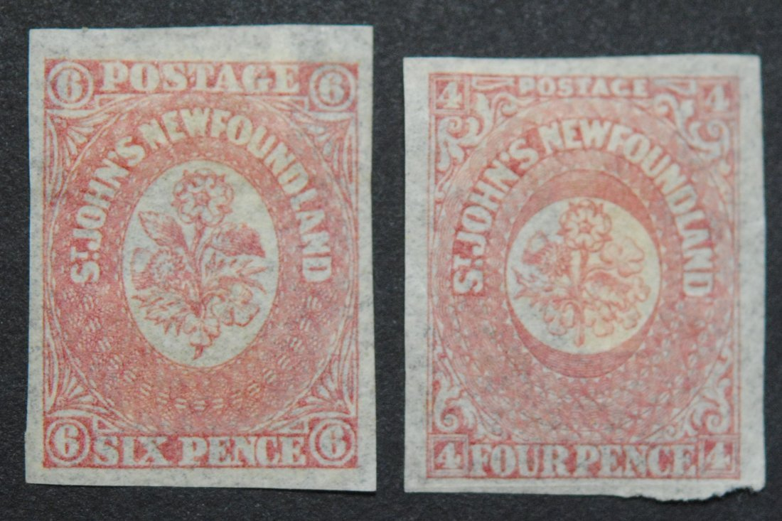 Canada Newfoundland 4p S/C #20 and 6p S/C #18 VF+ M