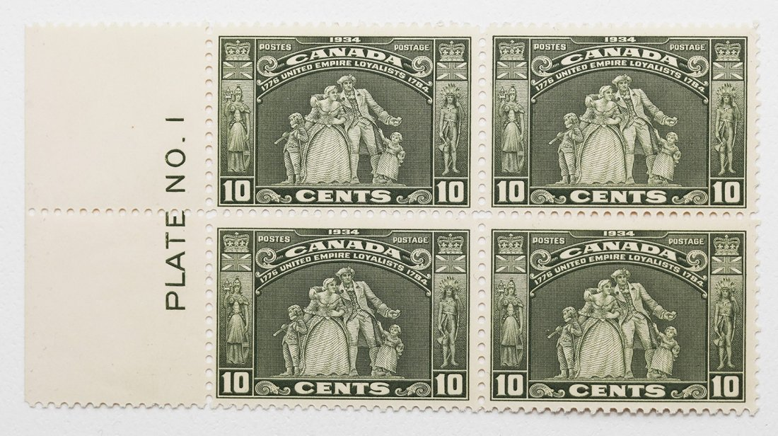 Canada 10c Plate Block of 4 VF MNH