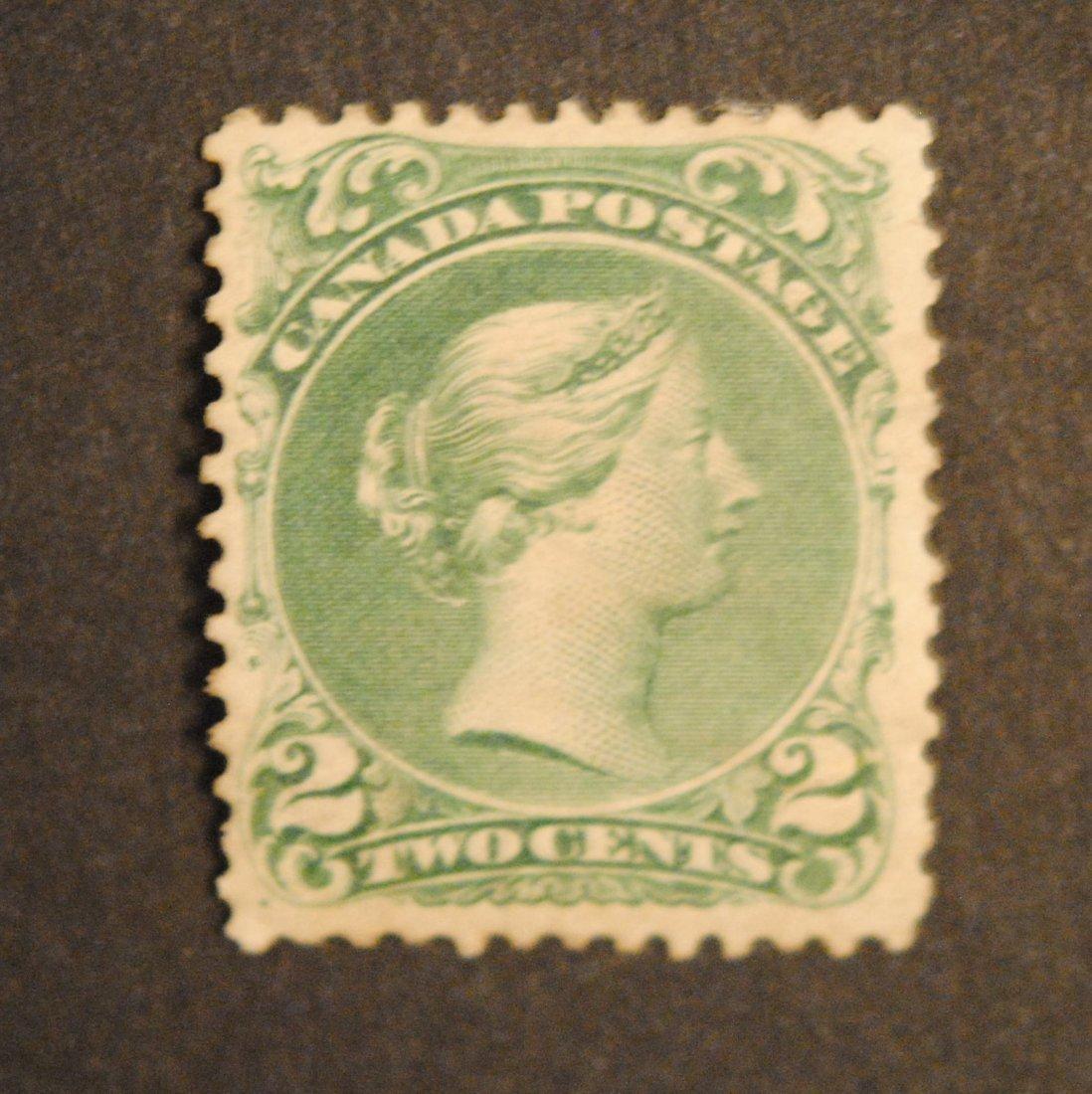 Canada 1868 2c Green S/C #24 MH VF OG