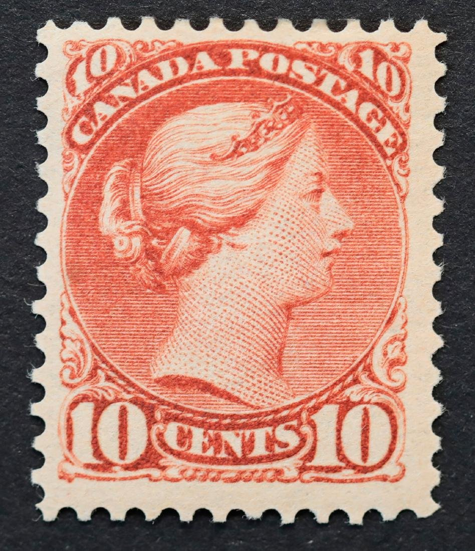 """Canada 1897 10c """"Small Queen"""" S/C #40 F LH OG"""