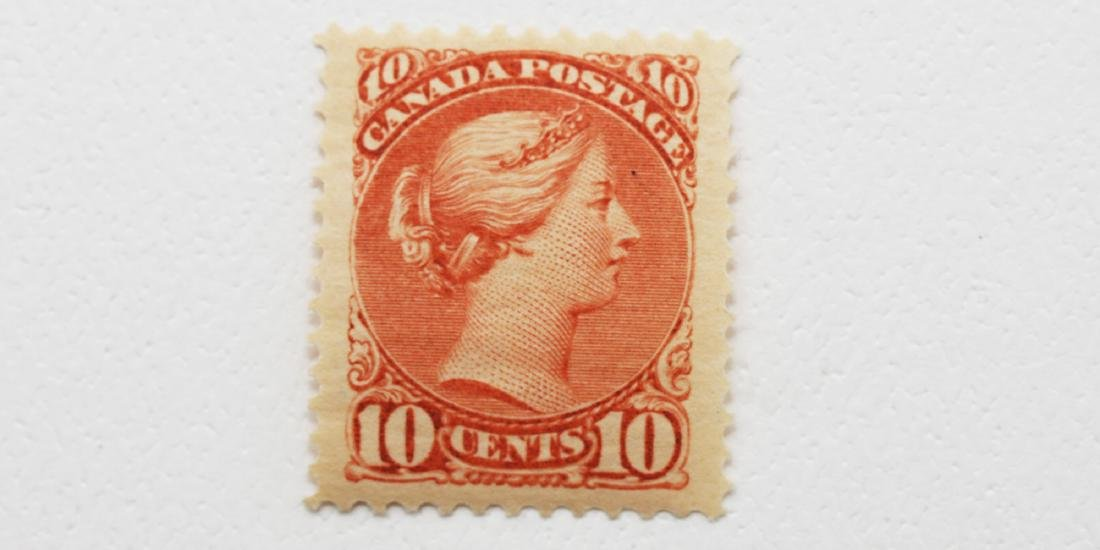 """Canada- 1897 10c """"Small Queen"""" S/C #45 MH OG"""