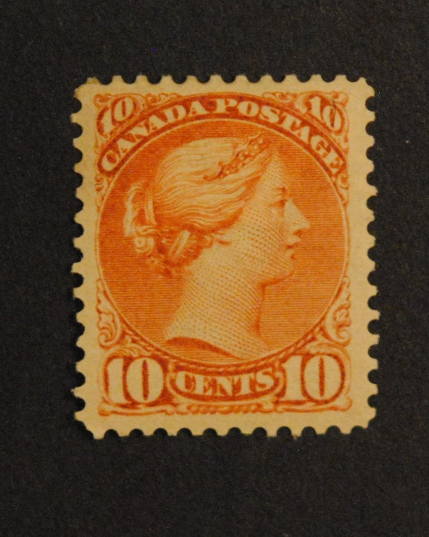 "Canada 1897 10c ""Small Queen"" S/C #45a VF MH"