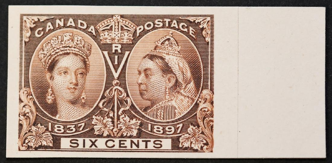 Canada 1897 6c  Jubilee Plate Proof S/C #55P MNH