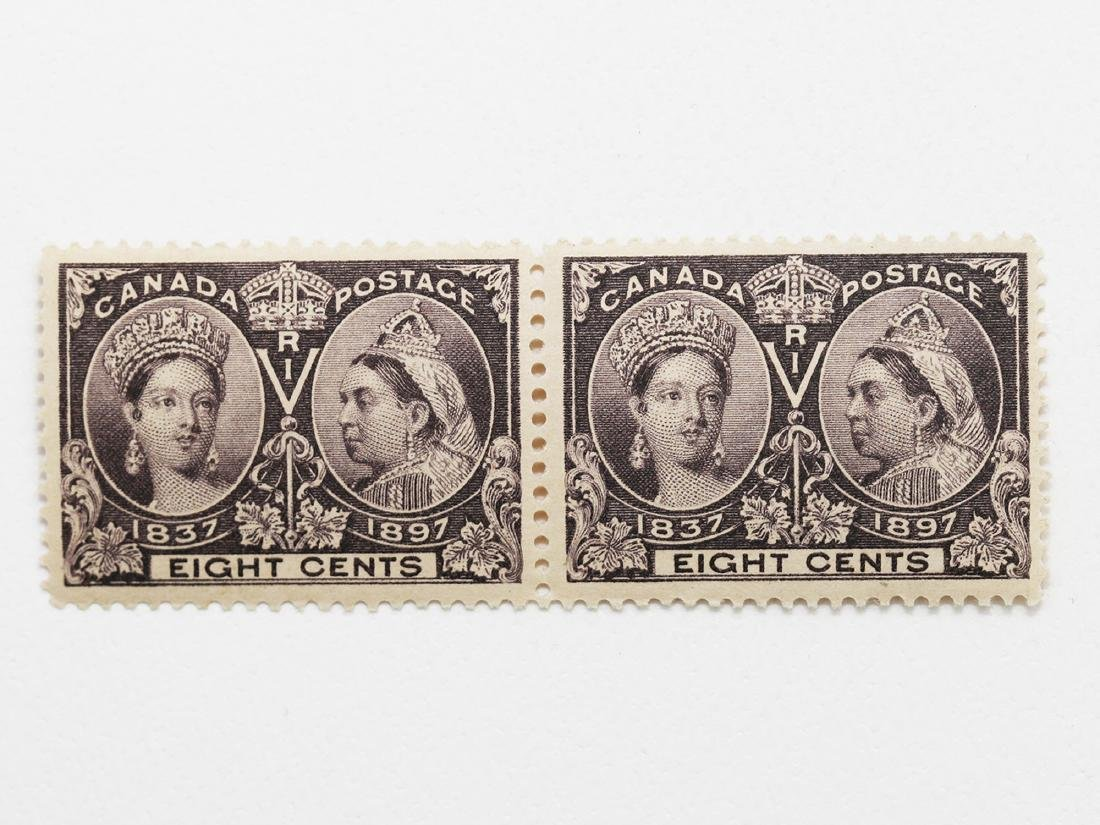 Canada- 1897 8c Jubilee Pair S/C #56 MNH VF+