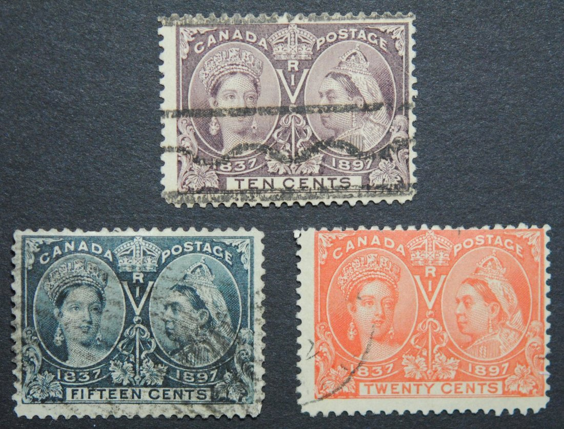 Canada 1897 Jubilee 3 Stamp Collection