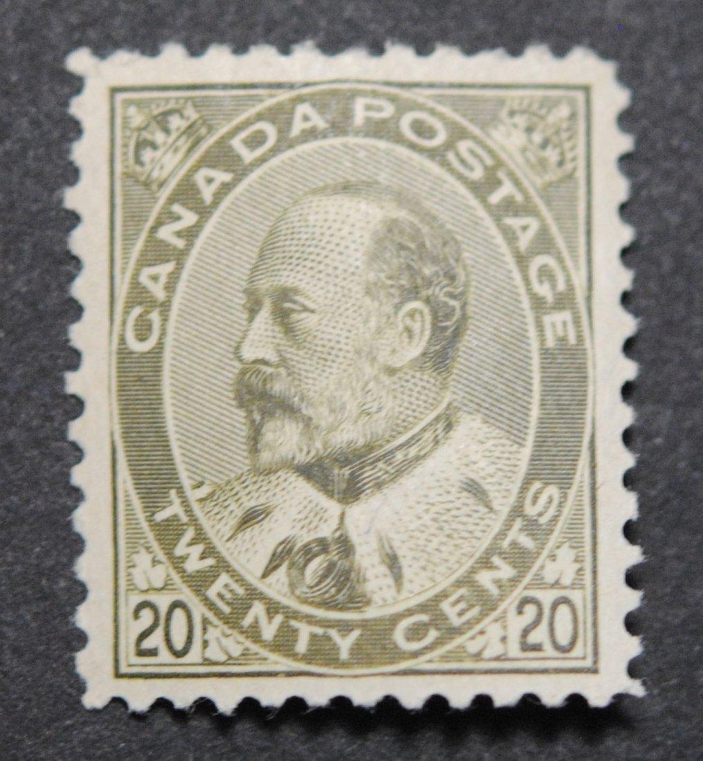 Canada 1904 20c S/C #94 VF OG H