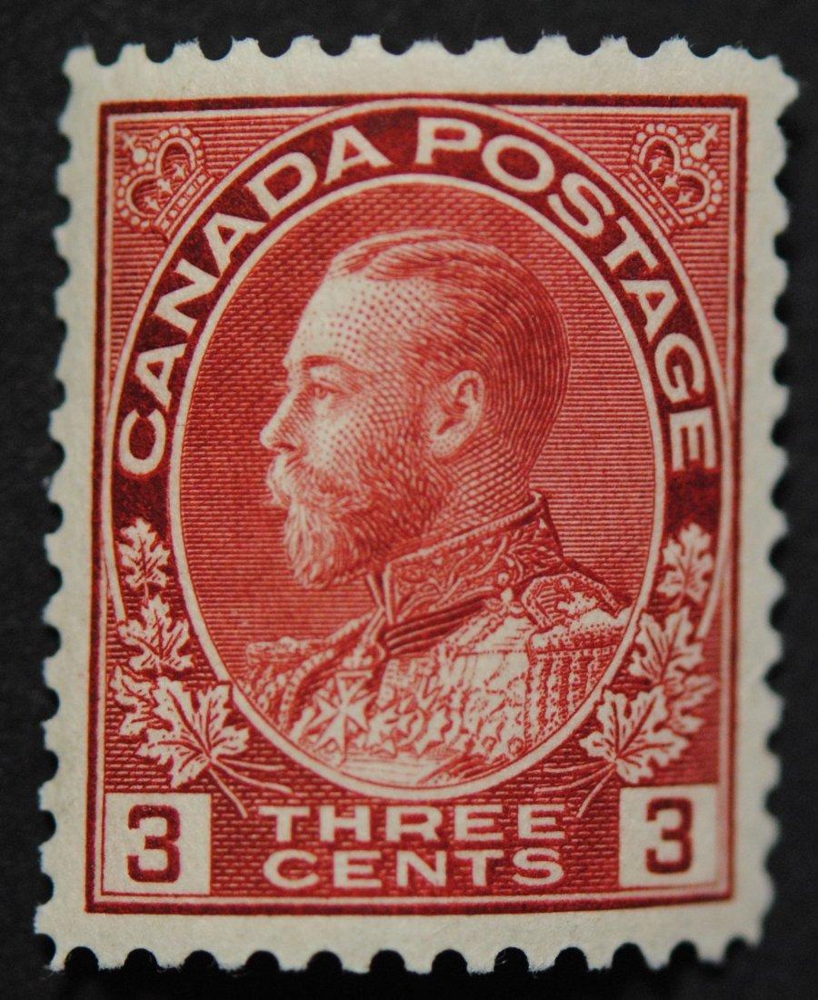 Canada 1911 3c S/C #109 VF/XF MNH
