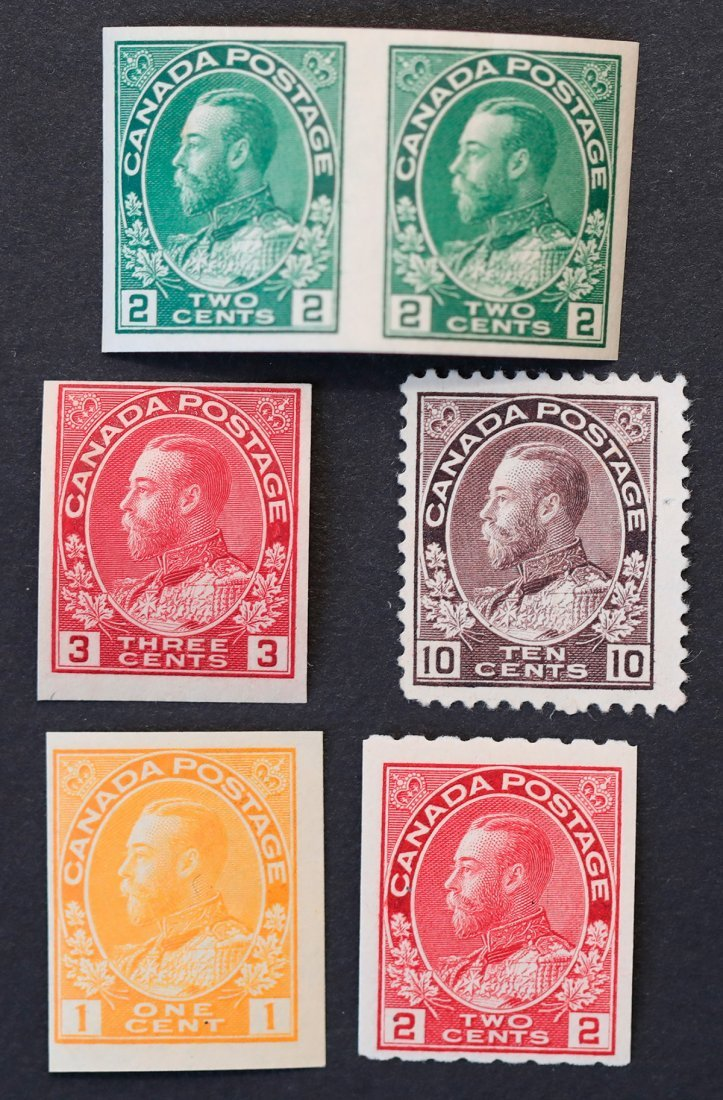 Canada 1911 6 Stamp Collection