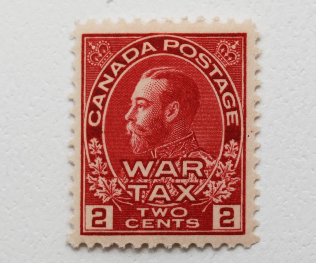 Canada 1915 2c Carmine  War Tax VF+ MNH OG S/C #MR2