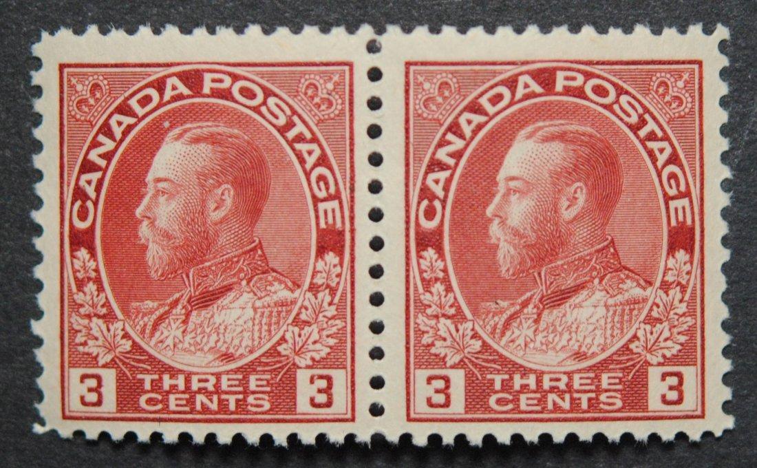 Canada 1923 3c Pair S/C #109
