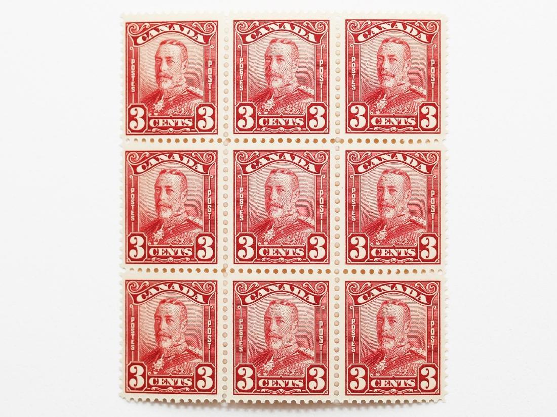 Canada 1928 3c Block of 9 S/C #151 MNH