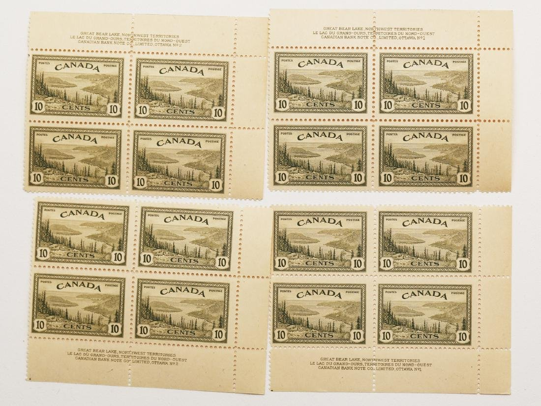 Canada 1946 4 Plate Blocks of 4 S/C #273 MNH VF