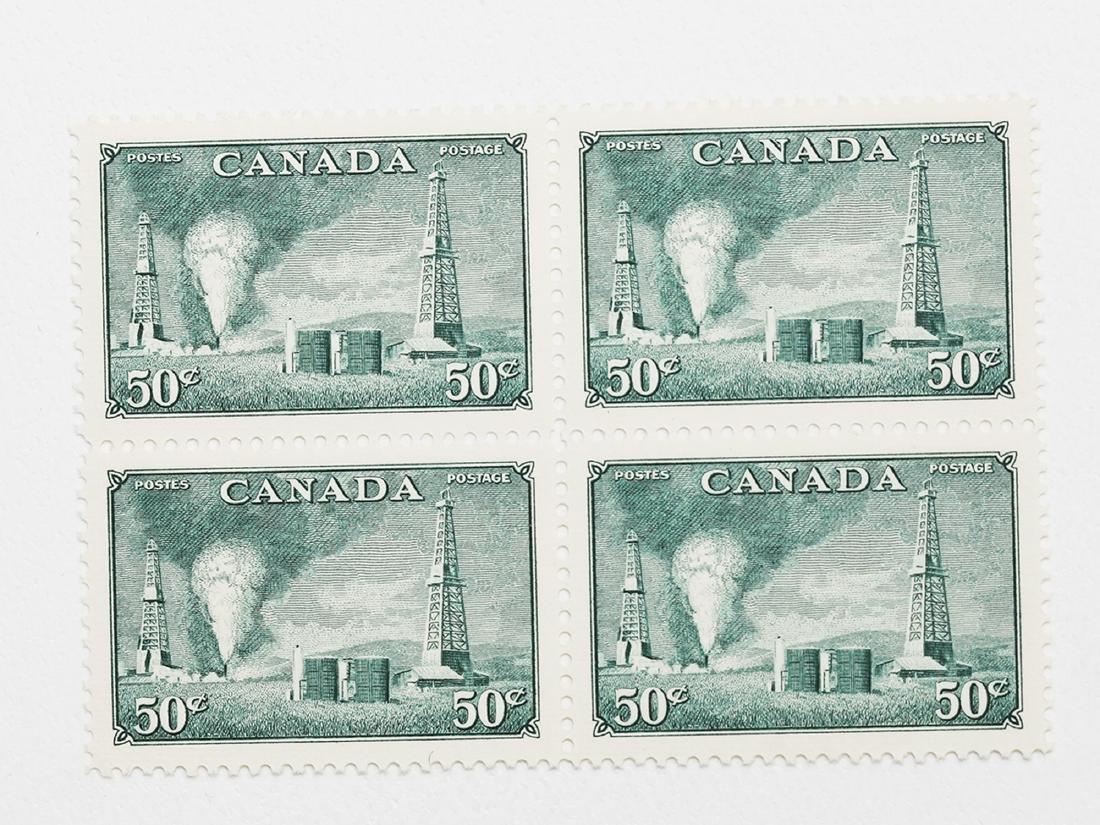 Canada- 1950 50c S/C #294 Block VF/EF