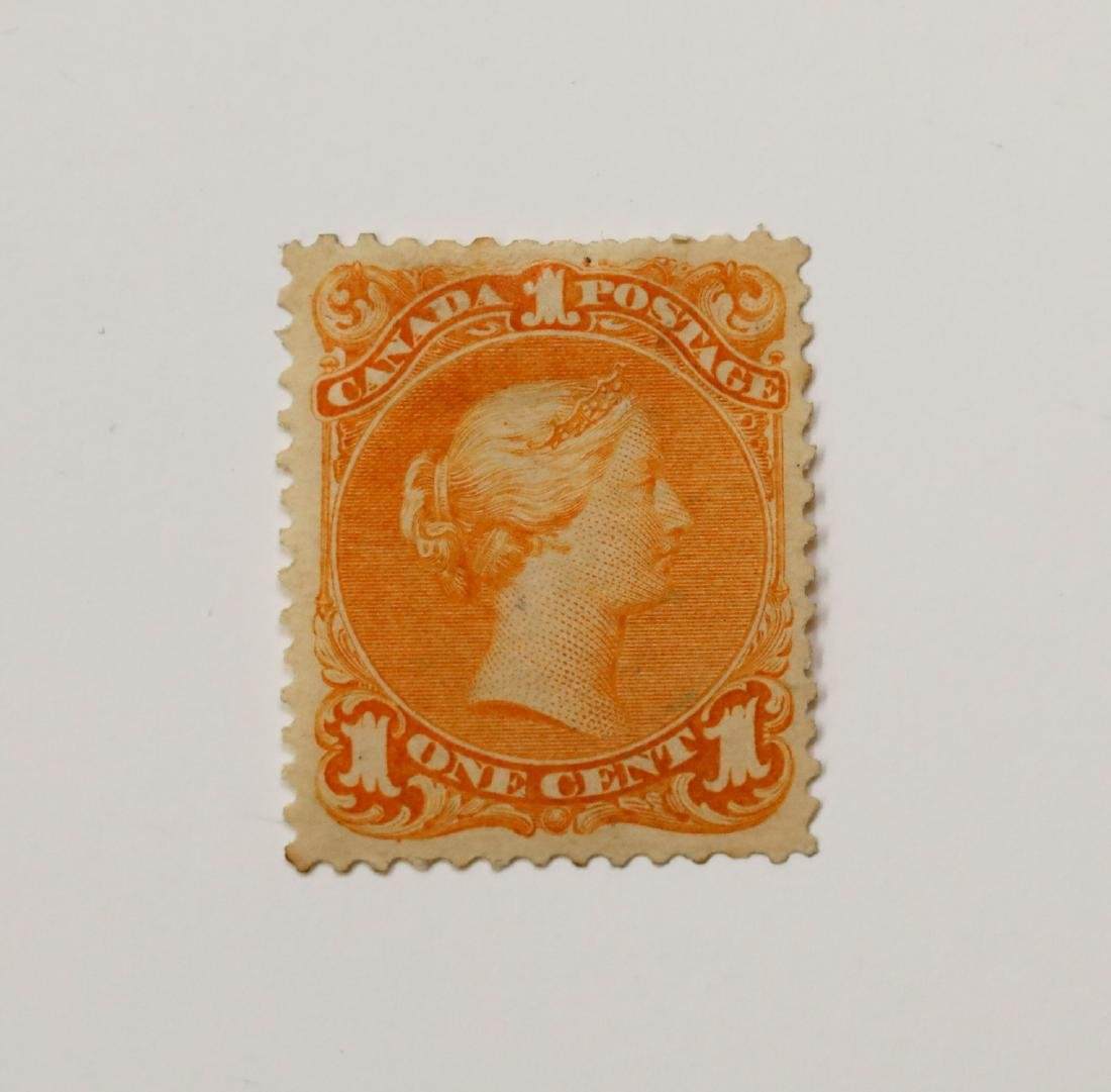 """Canada 1c """"Large Queen"""" S/C #23 MLH OG F/VF"""