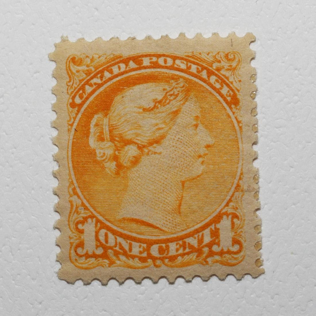 """Canada 1c """"Small Queen""""S/C #35 MH VF OG"""