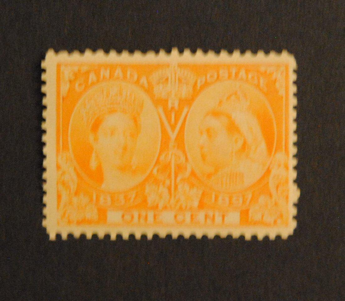 Canada 1c S/C #51 Orange MNH OG