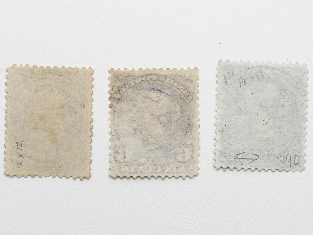"""Canada- 3 """"Large Queens"""" Victoria 5c, 6c, 12 1/2c - 2"""
