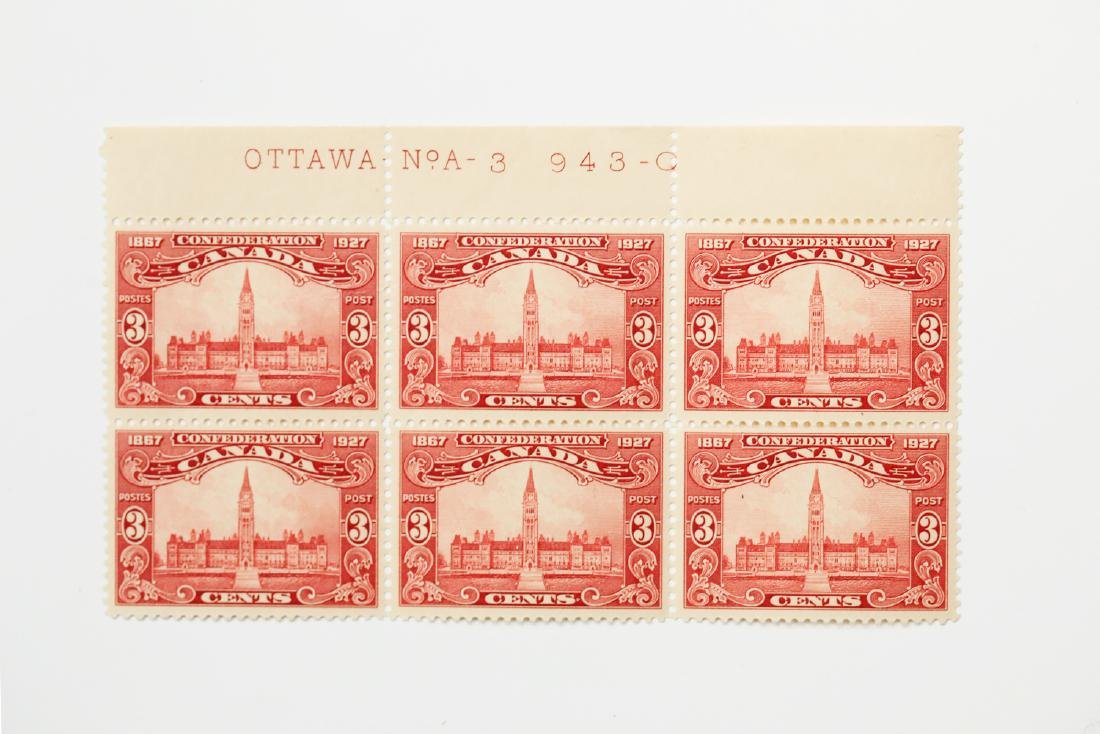 Canada 3c Block of 6 S/C #143 MNH VF