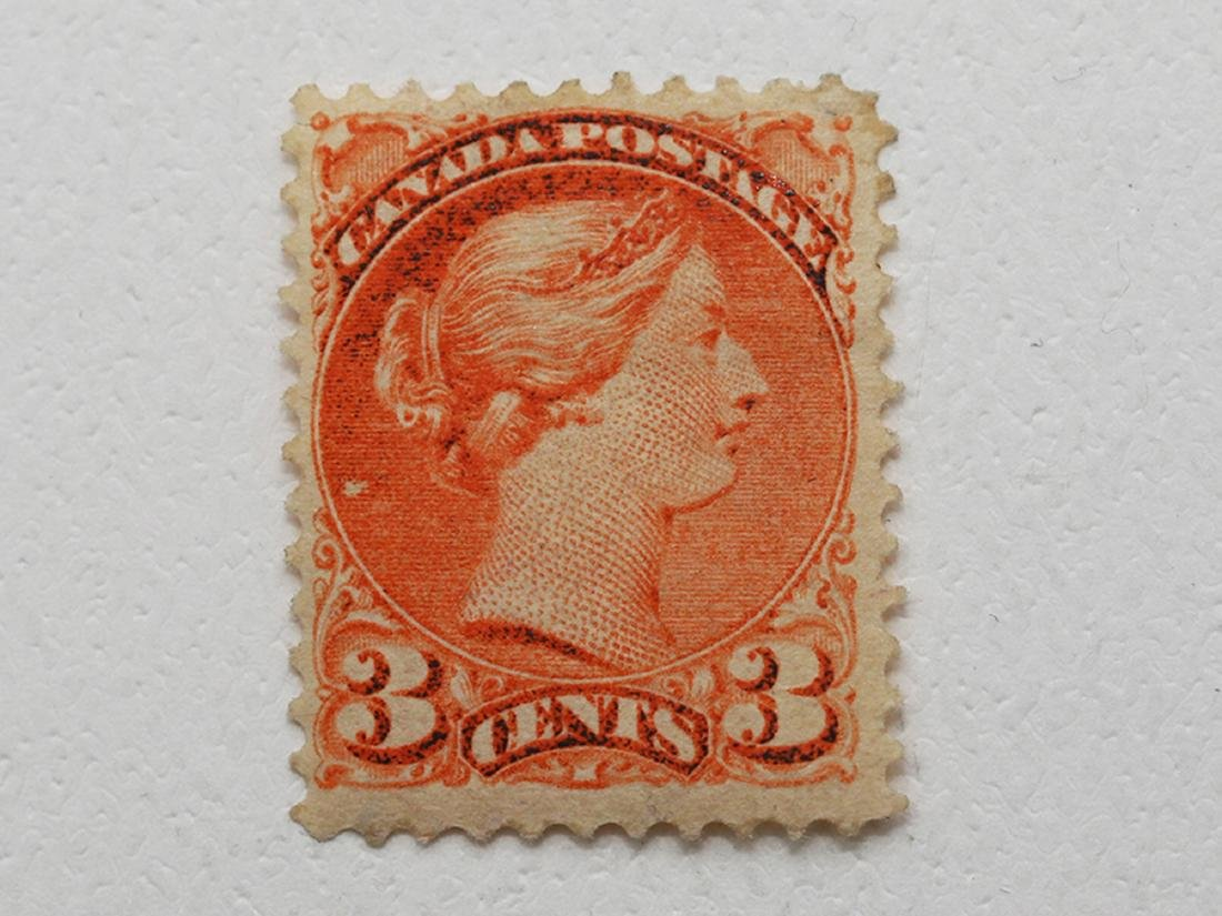 "Canada 3c ""Small Queen"" S/C #37 VF MH OG"