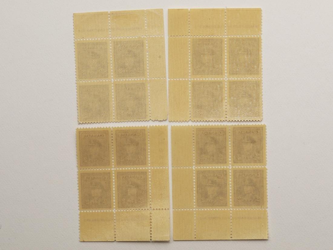 Canada 4 Plate Blocks of 4 S/C #250 MNH VF - 2