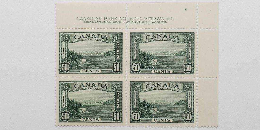 Canada- 50c Plate Block of 4 S/C #244 MNH VF