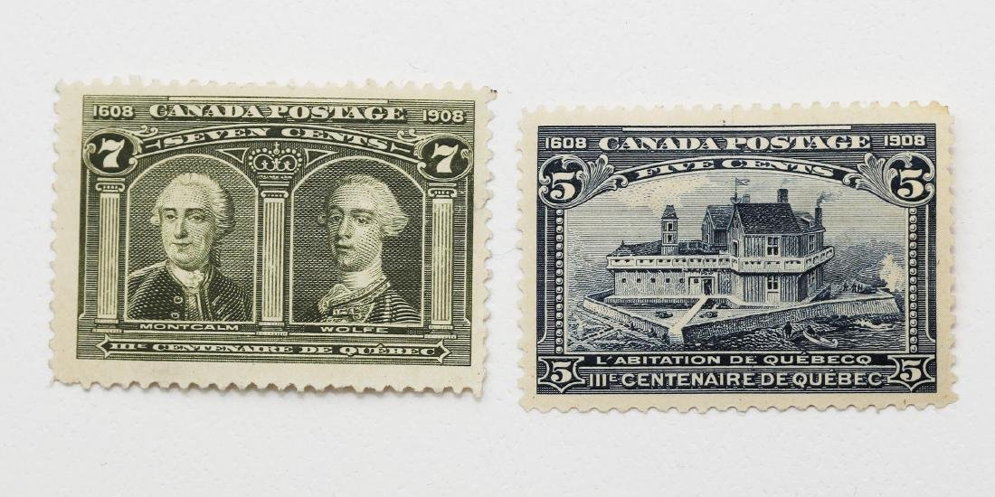Canada 5c and 7c S/C #99 MH VF and S/C #100 MH F