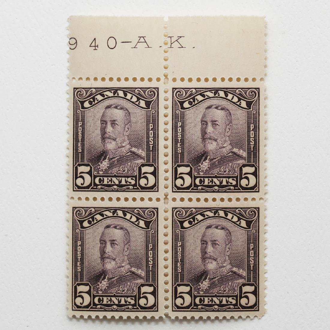 Canada- 5c Block of 4 S/C #153 VF MNH