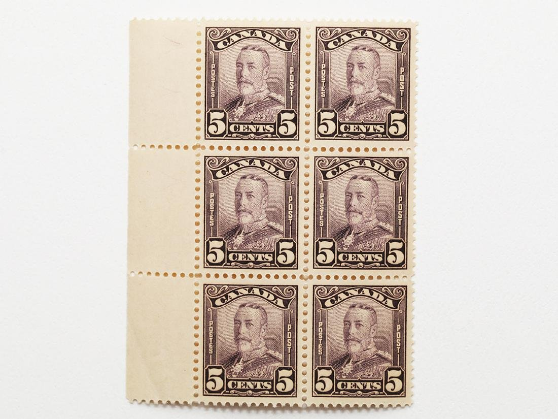 Canada 5c Block of 6 S/C #153 MNH VF