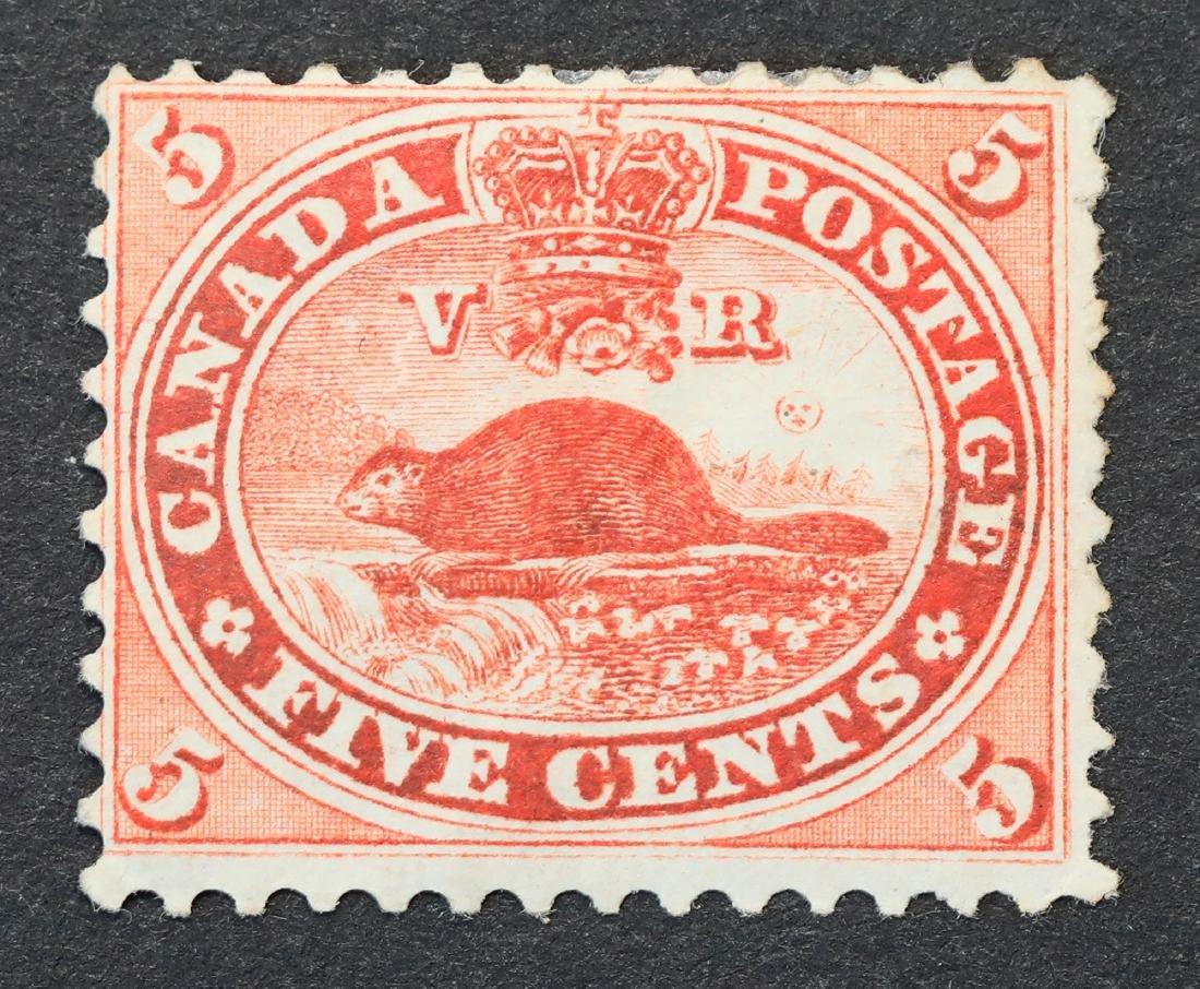 Canada 5c S/C #15 MH OG VF