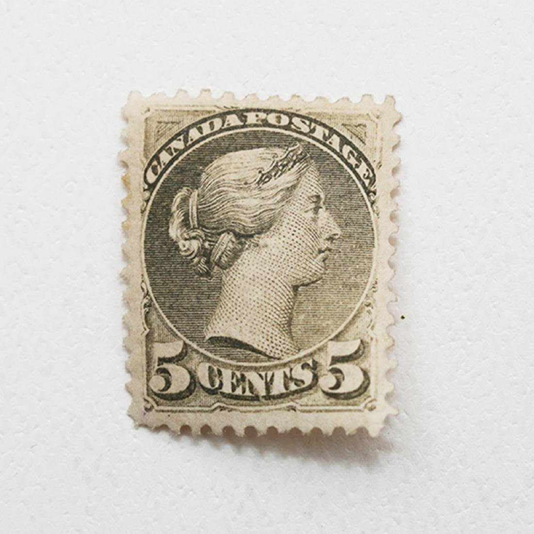 "Canada 5c ""Small Queen"" S/C #38 VF MLH"