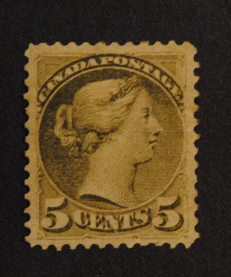 """Canada 5c Slate Green """"Small Queen"""" S/C #38"""