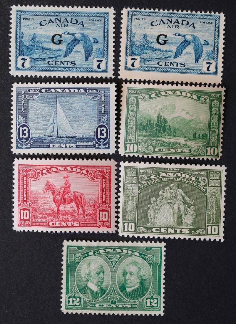 Canada 7 Mint Stamp Collection