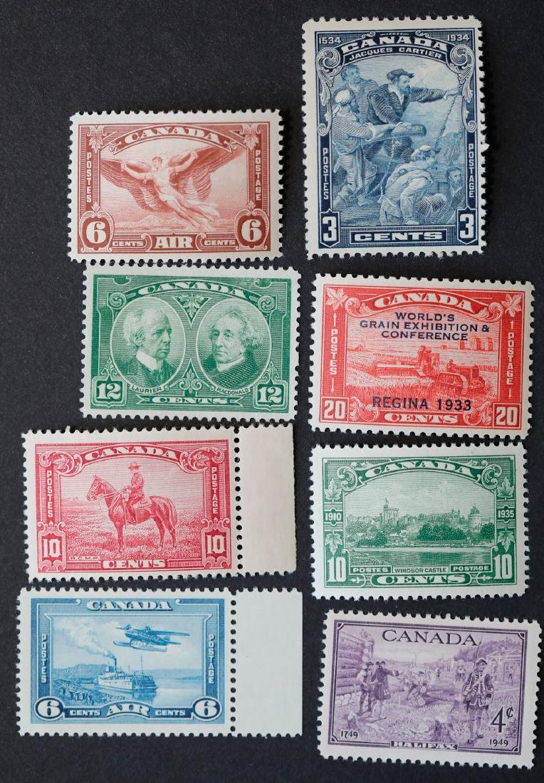 Canada 8 Stamp Collection