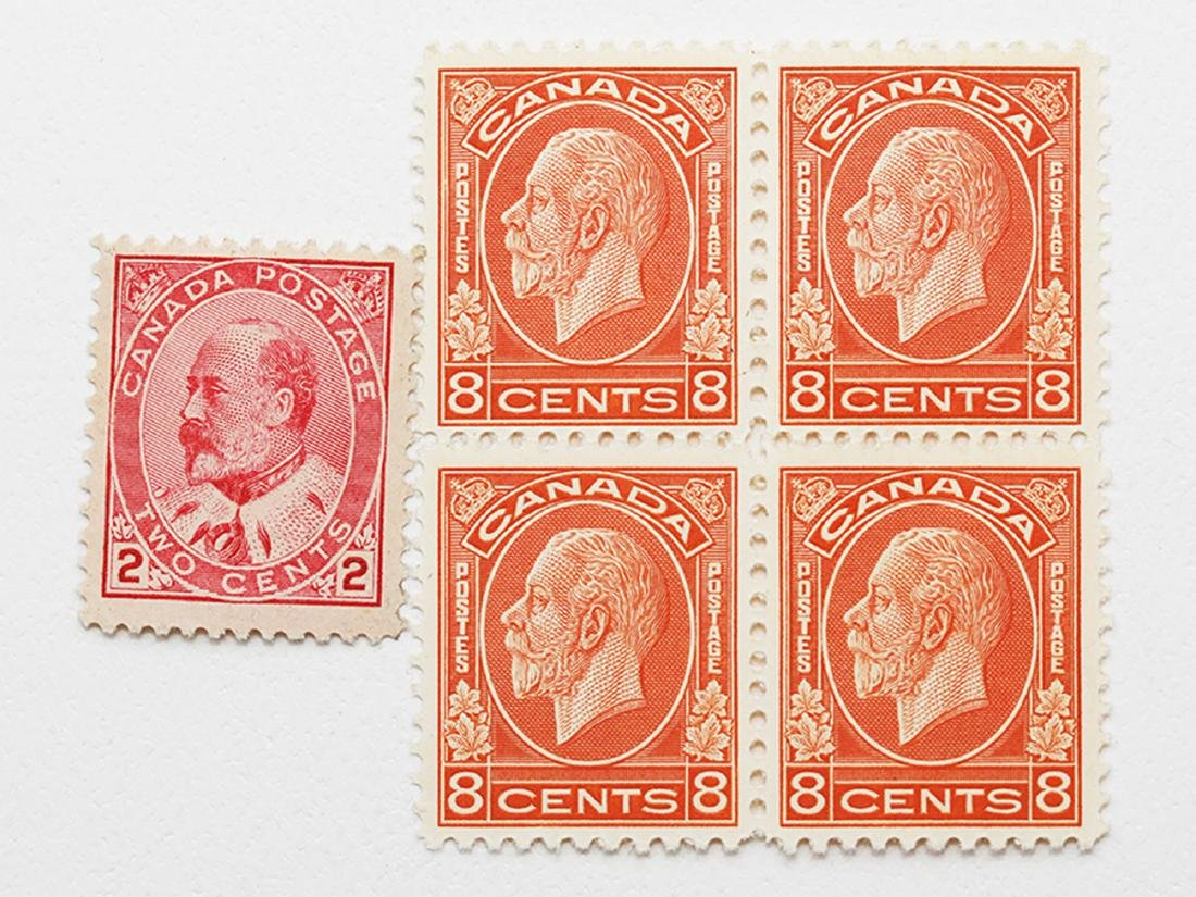 Canada 8c Block of 4 S/C #90 MNH VF and S/C #200 MNH VF