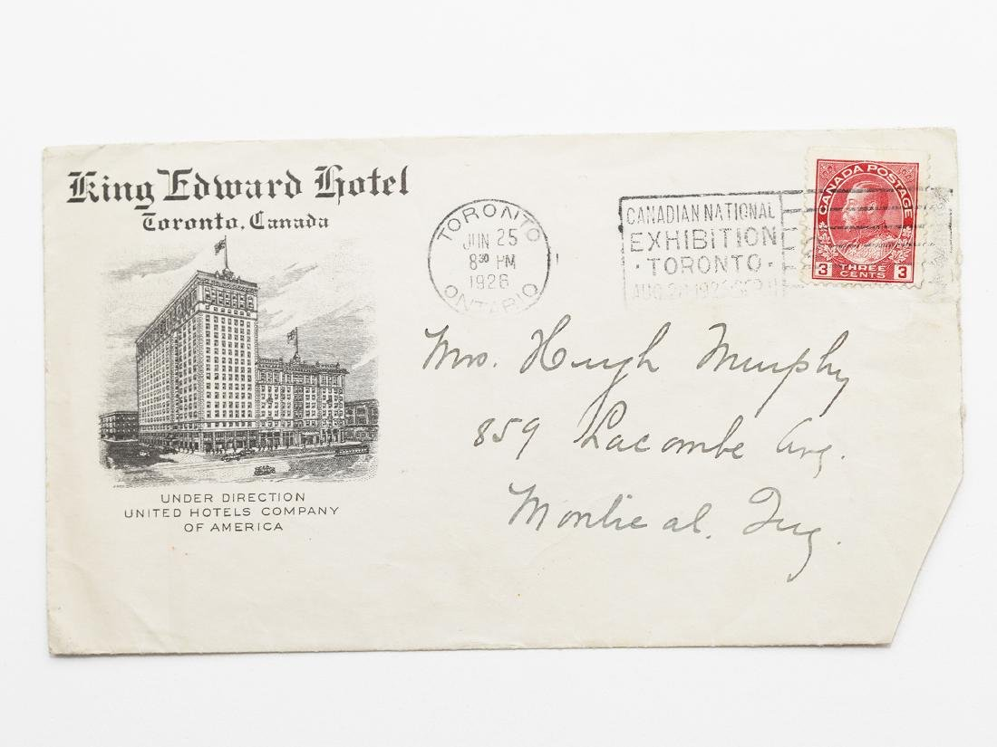 Canada Cover 1926 King Edward Hotel