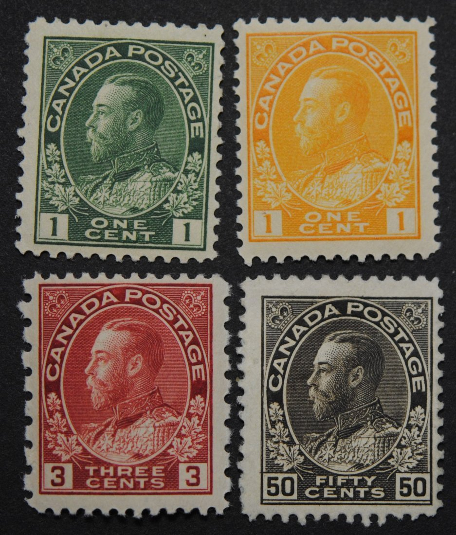 """Canada George V """"Admiral"""" Issue S/C #104, #105, #109"""