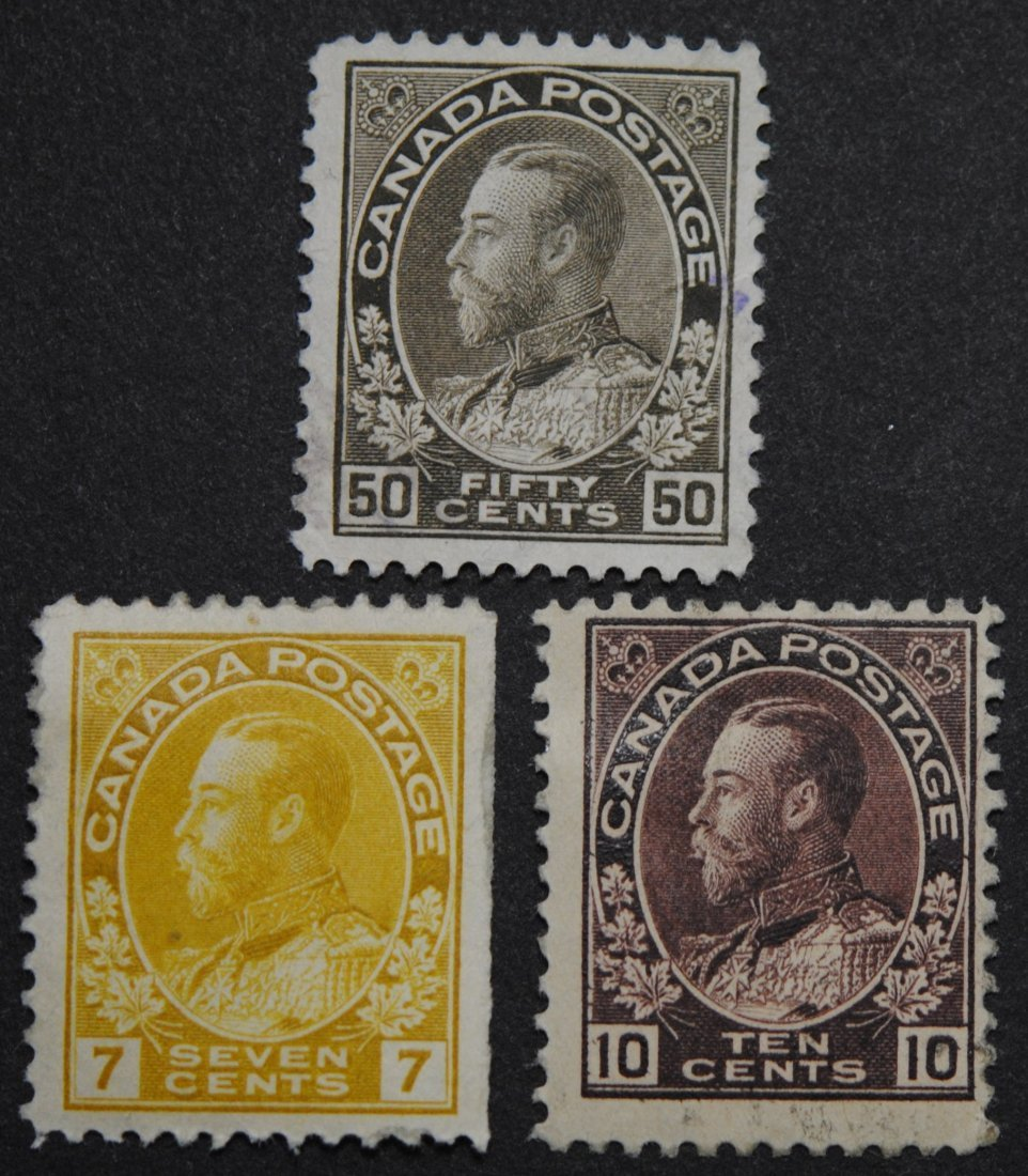 """Canada George V """"Admiral"""" Issue S/C #113, S/C #116, S/C"""
