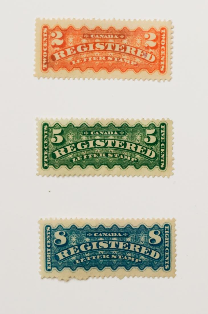Canada Registration Stamps Collection