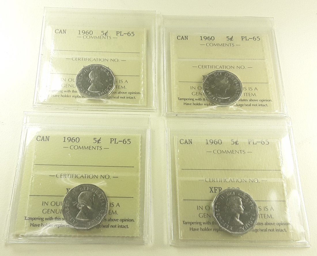 Canadian Prooflike 5 Cent Collection - 2
